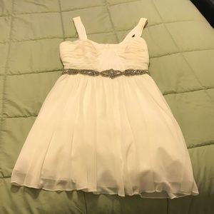 White homecoming dress for sale!
